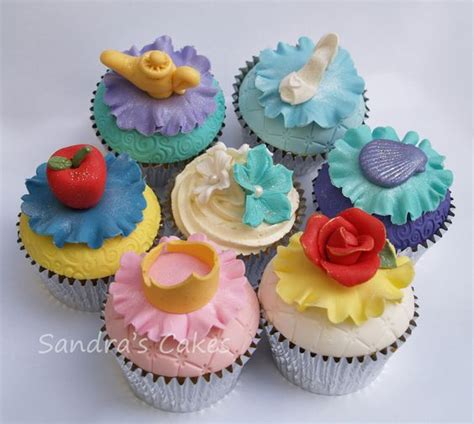 princess collection collection of dome topped cupcakes inspired by disney princesses each