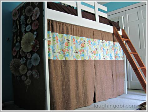 how to make bunk bed curtains diy loft bed curtains laughing abi