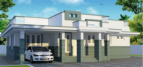 contemporary normal model kerala model home plans