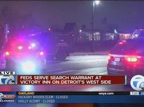 Detroit Warrant Search Federal Agents Conducting Search Warrant At Detroit Motel