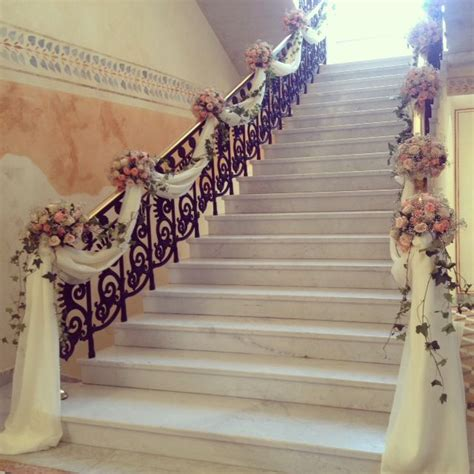 how to decorate banister simply and elegantly for christmas staircase decoration memorable weddings in 2019 wedding staircase wedding staircase
