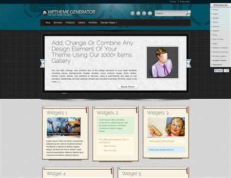 website themes generator wp theme generator create wordpress themes without coding