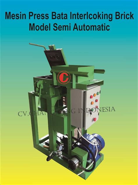 Mesin Laminate 3 In 1 sell mesin press interlocking semi automatis from