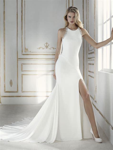 hochzeitskleid israelische designerin palencia sexy mermaid wedding dress with halter neckline