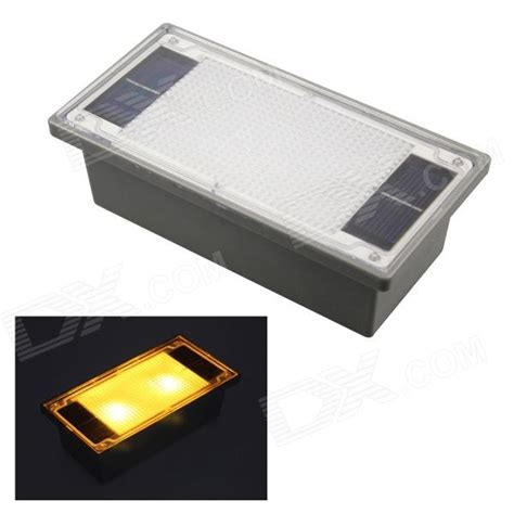 Solar Powered 2 Led Yellow Outdoor Garden Pathway Recessed Solar Recessed Lights