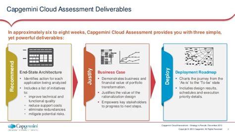 Capgemini Cloud Assessment A Pathway To Enterprise Cloud Migration Cloud Assessment Template