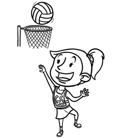Coloring Pages Netball | netball clip art clipart best