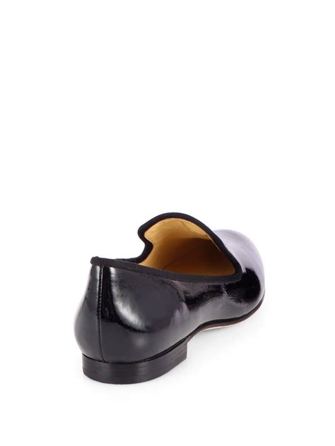 cole haan slippers for lyst cole haan sabrina patent leather slippers