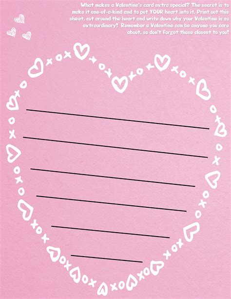 printable lined valentines paper free heart shaped valentine s day lined paper template