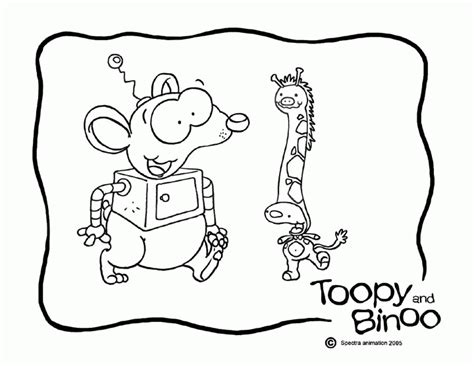 toopy and binoo coloring home