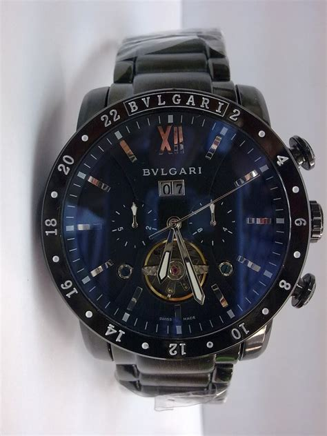 Bvlgari Skeleton Xii Black Leather imsal tag heuer bvlgari omega rolex chopard s watches in malaysia