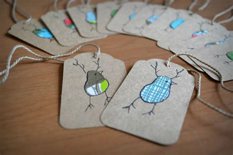 Handmade Gift Tags - adorable gift tags frugality