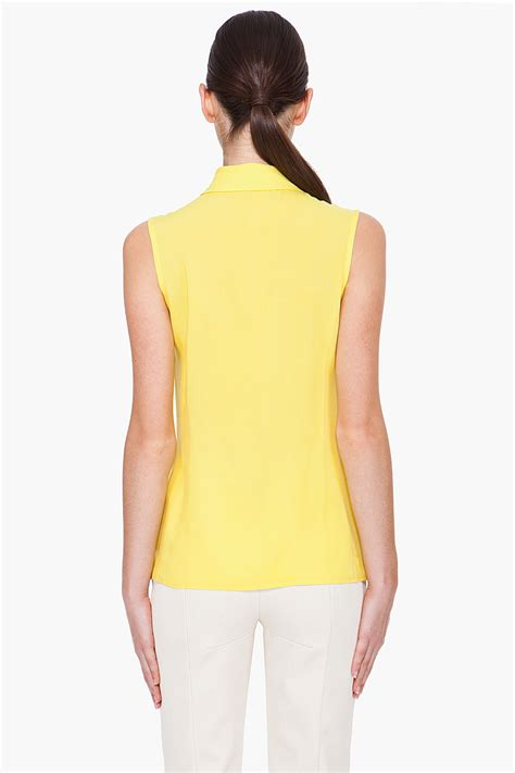Blouse Yellow Fashion cushnie et ochs yellow sleeveless blouse in yellow lyst