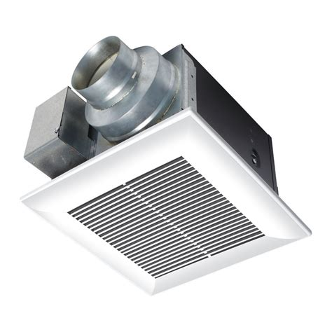 bathroom exhaust fans lowes shop panasonic 0 3 sones 110 cfm white bathroom fan energy star at lowes com