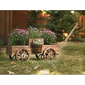 wooden wagon planter large garden planters wooden wagon planter rolling outdoor planters wooden wagon