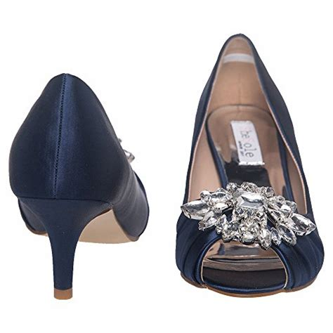 shesole womens low heel dress pumps rhinestone open toe