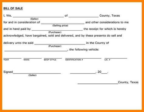 bill of sale template for trailer 4 trailer bill of sale lease template