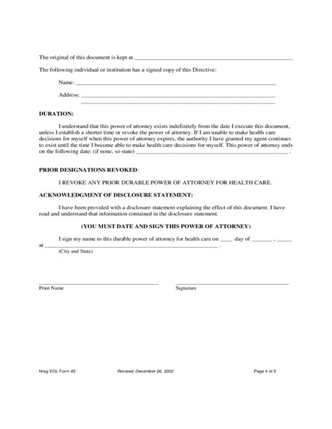 Sle Power Of Attorney Template 21649 Sle Durable Power Of Attorney Form Power Of Attorney Template Business Template Free