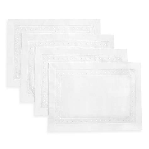 placemats bed bath and beyond swiss dot placemats in white set of 4 bed bath beyond
