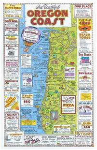 oregon coast attractions map maps usa