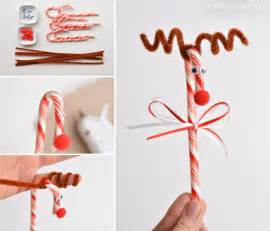 Do you remember making these candy cane reindeer when you were a kid