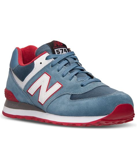 macys mens athletic shoes new balance s 574 plus casual sneakers from