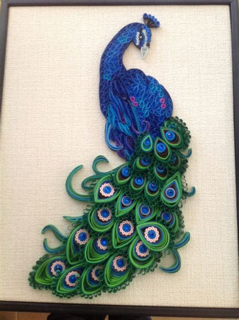 How To Make Paper Quilling Peacock - paper quilling quilling and peacocks on