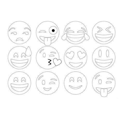 imagenes de whatsapp blanco y negro dibujos de emojis para colorear