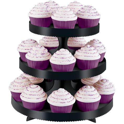 Cupcake Tier wilton 3 tier black borders wedding cupcake dessert stand holder display ebay