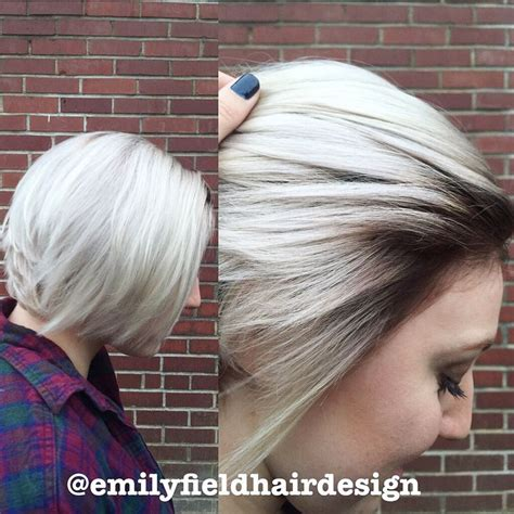 platinum pixi cut with brown highlights icy blonde platinum short hair pretty hair with dark