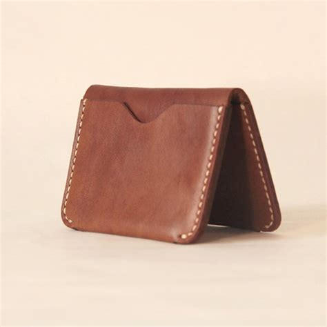 Leather Handmade Wallet - handmade leather wallet card minimal leather
