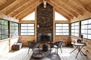 Cabin House Plans Covered Porch screened porch rustic sunroom toronto by kawartha