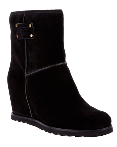 Wedges Wanita Fashionable Cecillia Black Wedges pinkbasis womens shoes pompeo wedge boots