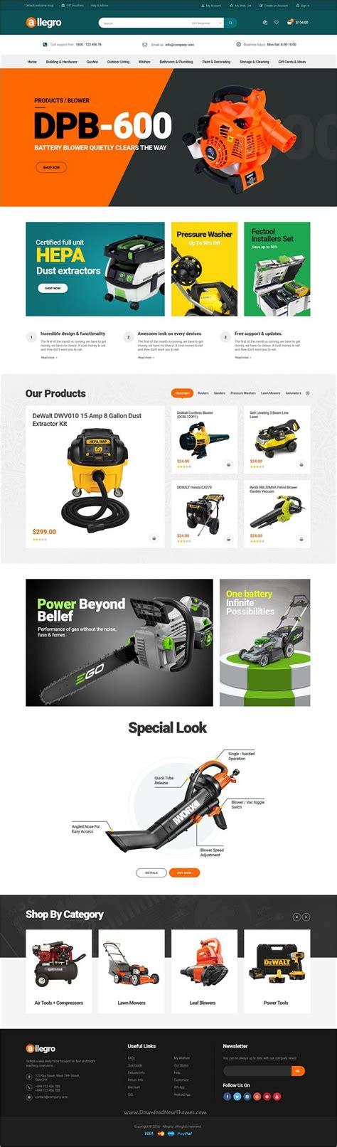 layout design tool website allegro woocommerce wordpress theme for hand tool