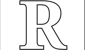 Letter R Template 8 Best Images Of Printable  Free sketch template