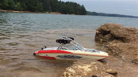 mastercraft jet boats mastercraft xstar rc boat modified brushless test