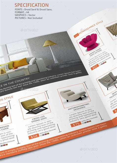 Furniture Store Brochure Template By Blogankids Graphicriver Sales Catalog Template