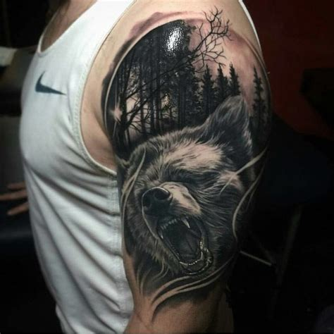 bear shoulder tattoo best tattoo ideas gallery