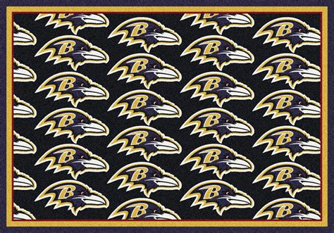 Team Rugs by Milliken Nfl Repeat 09008 Baltimore Ravens Team Area Rug