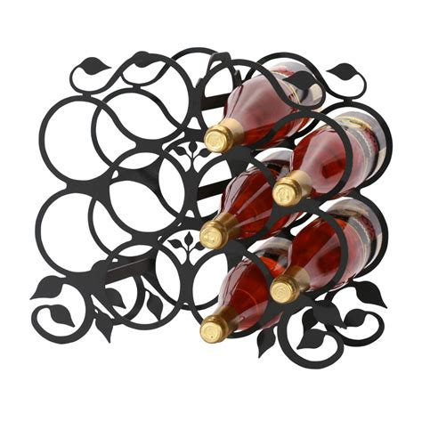 Grape Vine Wine Rack by Wrought Iron Grapevine Wine Rack 10 Bottle Wrought