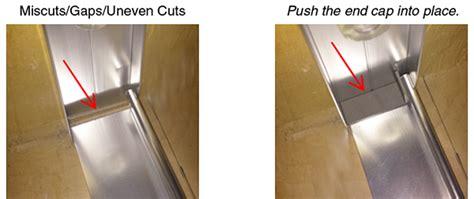 shower door bottom track shower door track miscuts