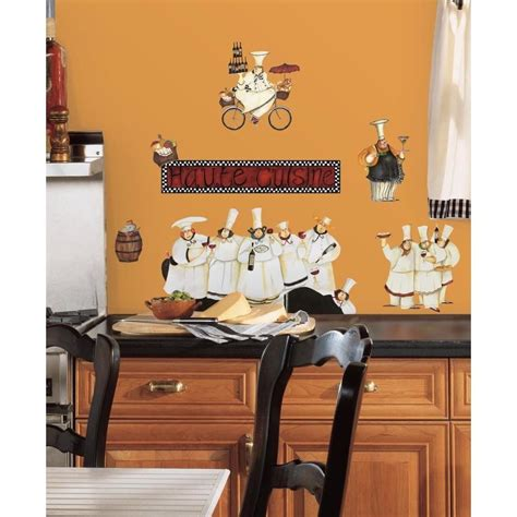 new italian fat chefs peel stick wall decals kitchen