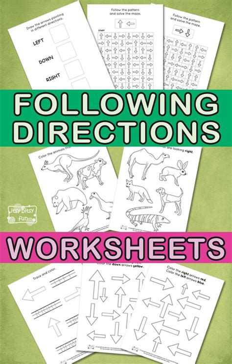 Following Directions Printables