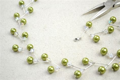 wire jewelry ideas to make jewelry crafts ideas adorable pearl necklace earring set