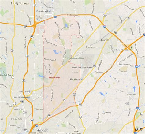 atlanta map usa atlanta map