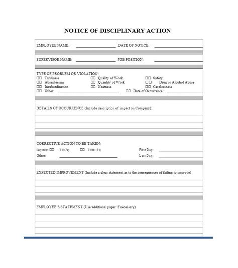 disciplinary forms for employees template 40 employee disciplinary forms template lab
