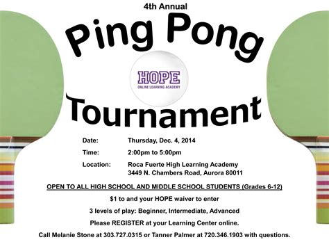 Ping Pong Tournament Bing Images Free Pong Flyer Template
