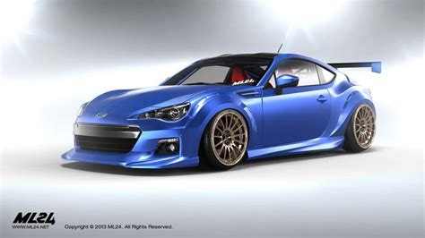 subaru brz wide ml24 subaru brz wide fenders and aero lip kit ps