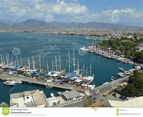 porto della turchia porto turchia di fethiye fotografia stock immagine 37091710