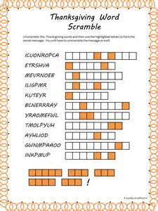 thanksgiving word scrambles thanksgiving word scramble puzzles to print my style
